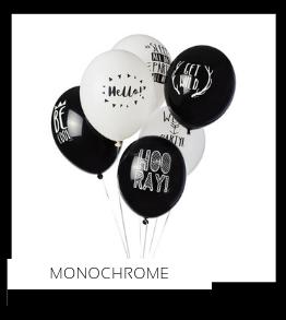 Monochrome Zwart/Wit Kleur Feestversiering Feestartikelen online kopen stylish, hip & trendy