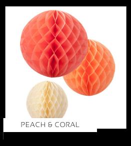 Peach Perzik Coral Koraal Kleur Feestversiering Feestartikelen online kopen stylish, hip & trendy