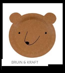 Bruin Kraft Kleur Feestversiering Feestartikelen online kopen stylish, hip & trendy