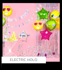 Electric Holo Verjaardag versiering collecties thema merk Ginger Ray Partydeco Talking Tables Meri Meri My Little Day My Mind's Eye Feestartikelen online kopen hip, stylish & trendy