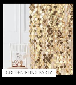 Golden Bling Party Verjaardag versiering collecties thema merk Ginger Ray Partydeco Talking Tables Meri Meri My Little Day My Mind's Eye Feestartikelen online kopen hip, stylish & trendy