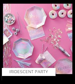 Iridescent Party Verjaardag versiering collecties thema merk Ginger Ray Partydeco Talking Tables Meri Meri My Little Day My Mind's Eye Feestartikelen online kopen hip, stylish & trendy