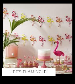 Let's Flamingle Flamingo Verjaardag versiering collecties thema merk Ginger Ray Partydeco Talking Tables Meri Meri My Little Day My Mind's Eye Feestartikelen online kopen hip, stylish & trendy