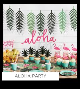 Aloha Verjaardag versiering collecties thema merk Ginger Ray Partydeco Talking Tables Meri Meri My Little Day My Mind's Eye Feestartikelen online kopen hip, stylish & trendy