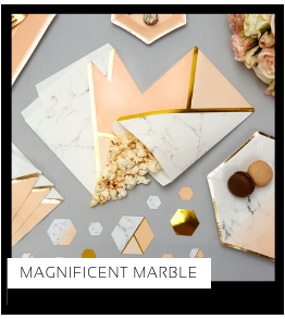 Magnificent Marble Party Verjaardag versiering collecties thema merk Ginger Ray Partydeco Talking Tables Meri Meri My Little Day My Mind's Eye Feestartikelen online kopen hip, stylish & trendy