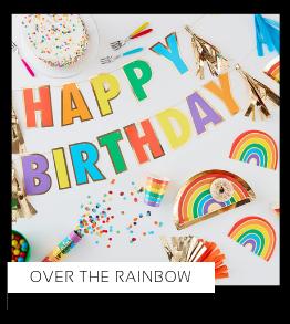 Over the rainbow regenboog Verjaardag versiering collecties thema merk Ginger Ray Partydeco Talking Tables Meri Meri My Little Day My Mind's Eye Feestartikelen online kopen hip, stylish & trendy