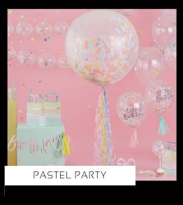 Pastel Party Verjaardag versiering collecties thema merk Ginger Ray Partydeco Talking Tables Meri Meri My Little Day My Mind's Eye Feestartikelen online kopen hip, stylish & trendy