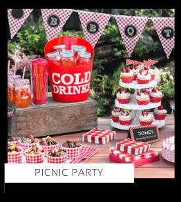 Picnic Party Verjaardag versiering collecties thema merk Ginger Ray Partydeco Talking Tables Meri Meri My Little Day My Mind's Eye Feestartikelen online kopen hip, stylish & trendy