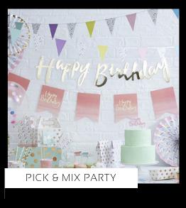 Pick Mix Party Verjaardag versiering collecties thema merk Ginger Ray Partydeco Talking Tables Meri Meri My Little Day My Mind's Eye Feestartikelen online kopen hip, stylish & trendy
