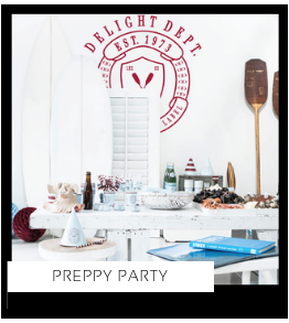 Preppy Party Verjaardag versiering collecties thema merk Ginger Ray Partydeco Talking Tables Meri Meri My Little Day My Mind's Eye Delight Department Feestartikelen online kopen hip, stylish & trendy