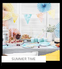 Summer Time Verjaardag versiering collecties thema merk Ginger Ray Partydeco Talking Tables Meri Meri My Little Day My Mind's Eye Feestartikelen online kopen hip, stylish & trendy