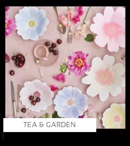 High Tea Garden Verjaardag versiering collecties thema merk Ginger Ray Partydeco Talking Tables Meri Meri My Little Day My Mind's Eye Feestartikelen online kopen hip, stylish & trendy