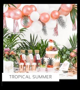 Tropical Summer Verjaardag versiering collecties thema merk Ginger Ray Partydeco Talking Tables Meri Meri My Little Day My Mind's Eye Feestartikelen online kopen hip, stylish & trendy