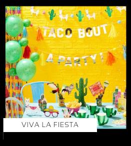Viva La Fiesta Mexicaans Verjaardag versiering collecties thema merk Ginger Ray Partydeco Talking Tables Meri Meri My Little Day My Mind's Eye Feestartikelen online kopen hip, stylish & trendy