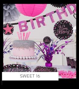 Sweet16 Verjaardag versiering collecties thema merk Ginger Ray Partydeco Talking Tables Meri Meri My Little Day My Mind's Eye Feestartikelen online kopen hip, stylish & trendy