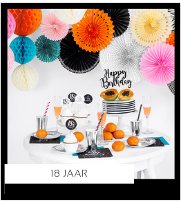 18 jaar Verjaardag versiering collecties thema merk Ginger Ray Partydeco Talking Tables Meri Meri My Little Day My Mind's Eye Feestartikelen online kopen hip, stylish & trendy