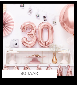 30 jaar Verjaardag versiering collecties thema merk Ginger Ray Partydeco Talking Tables Meri Meri My Little Day My Mind's Eye Feestartikelen online kopen hip, stylish & trendy