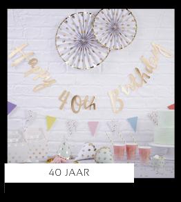 40 jaar Verjaardag versiering collecties thema merk Ginger Ray Partydeco Talking Tables Meri Meri My Little Day My Mind's Eye Feestartikelen online kopen hip, stylish & trendy