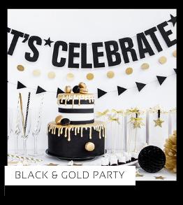 Black Gold Party Verjaardag versiering collecties thema merk Ginger Ray Partydeco Talking Tables Meri Meri My Little Day My Mind's Eye Feestartikelen online kopen hip, stylish & trendy