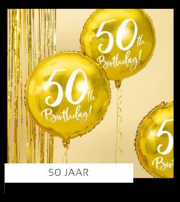 50 jaar Verjaardag versiering collecties thema merk Ginger Ray Partydeco Talking Tables Meri Meri My Little Day My Mind's Eye Feestartikelen online kopen hip, stylish & trendy