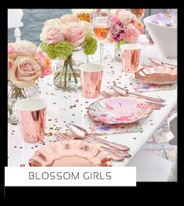 Blossom Girls Verjaardag versiering collecties thema merk Ginger Ray Partydeco Talking Tables Meri Meri My Little Day My Mind's Eye Feestartikelen online kopen hip, stylish & trendy