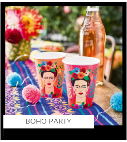 Boho Party Verjaardag versiering collecties thema merk Ginger Ray Partydeco Talking Tables Meri Meri My Little Day My Mind's Eye Feestartikelen online kopen hip, stylish & trendy