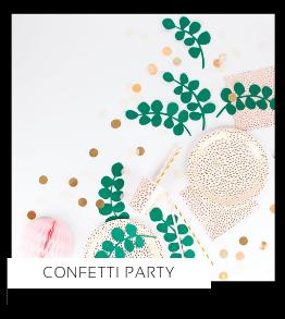 Confetti Party Verjaardag versiering collecties thema merk Ginger Ray Partydeco Talking Tables Meri Meri My Little Day My Mind's Eye Feestartikelen online kopen hip, stylish & trendy