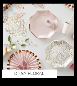 Ditsy Floral Verjaardag versiering collecties thema merk Ginger Ray Partydeco Talking Tables Meri Meri My Little Day My Mind's Eye Feestartikelen online kopen hip, stylish & trendy