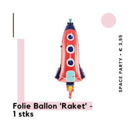 Folie ballon Raket Space Party Ruimte feestje Kinderfeestje hippe feestartikelen en feestversiering