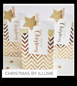 Christmas Kerstversiering Kerst decoratie Kerstfeest Feestartikelen van het merk Illume Partyware, hip, stylish & trendy