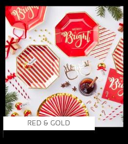Red & Gold Christmas Kerstversiering Kerst decoratie Kerstfeest Feestartikelen van het merk Ginger Ray, hip, stylish & trendy