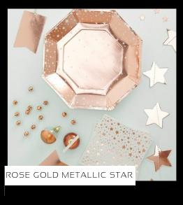 Rose Gold Metallic Star Kerstversiering Kerst decoratie Kerstfeest Feestartikelen van het merk Ginger Ray, hip, stylish & trendy