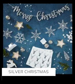 Silver Christmas Kerstversiering Kerst decoratie Kerstfeest Feestartikelen van het merk Ginger Ray, hip, stylish & trendy