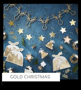 Gold Christmas Kerstversiering Kerst decoratie Kerstfeest Feestartikelen van het merk Ginger Ray, hip, stylish & trendy