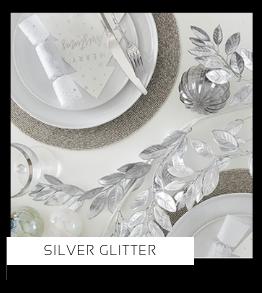 Silver Glitter Kerstversiering Kerst decoratie Kerstfeest Feestartikelen van het merk Ginger Ray, hip, stylish & trendy