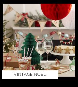 Vintage Noel Christmas Kerstversiering Kerst decoratie Kerstfeest Feestartikelen van het merk Ginger Ray, hip, stylish & trendy