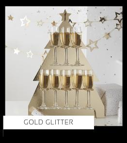 Gold Glitter Kerstversiering Kerst decoratie Kerstfeest Feestartikelen van het merk Ginger Ray, hip, stylish & trendy