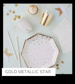 Gold Metallic Star Kerstversiering Kerst decoratie Kerstfeest Feestartikelen van het merk Ginger Ray, hip, stylish & trendy