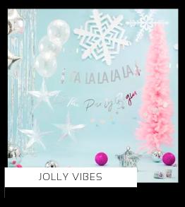 Jolly Vibes Kerstversiering Kerst decoratie Kerstfeest Feestartikelen van het merk Ginger Ray, hip, stylish & trendy