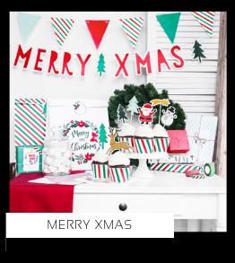 Merry Xmas Kerstversiering Kerst decoratie Kerstfeest Feestartikelen van het merk PartyDeco Poland, hip, stylish & trendy