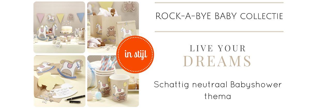 Rock a Bye Baby Babyshower Decoraties Versieringen Feestartikelen Online Kopen