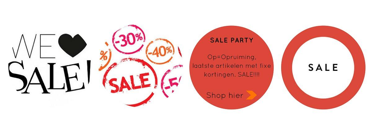 Op=Opruiming Sale Kortingen Acties Feestartikelen Versieringen Online Kopen Verjaardag Bruiloft