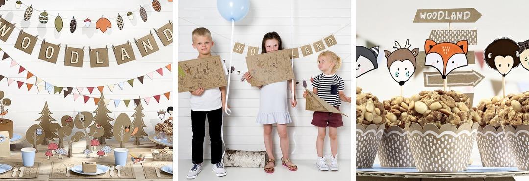 Woodland Avontuur Kinderfeestje Feestartikelen Feestversieringen kopen bij PretaPret hip en trendy