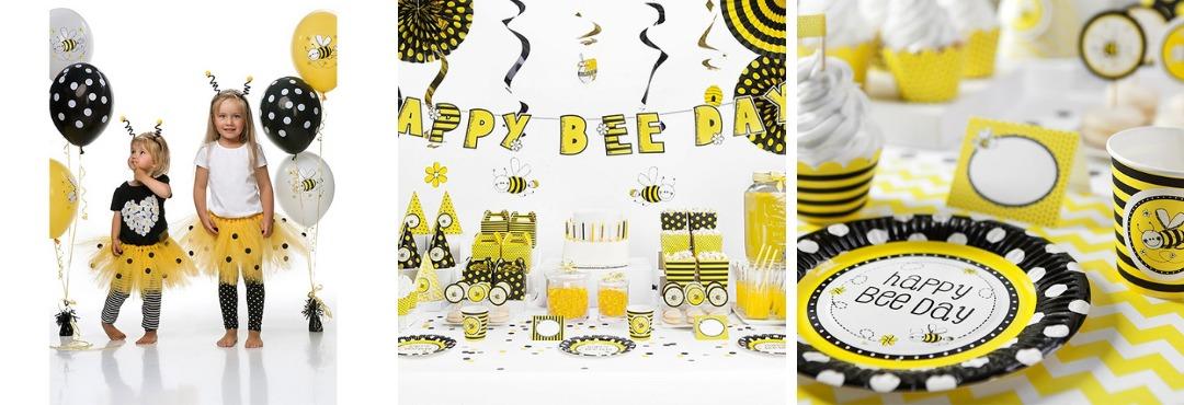 Bee Bijen Geel Zwart Kinderfeestje Feestartikelen Feestversieringen kopen bij PretaPret hip trendy