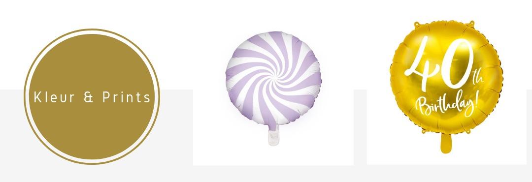 Folie Ballonnen Kleur Prints online kopen Feest Verjaardag Babyshower Geboorte Bruiloft