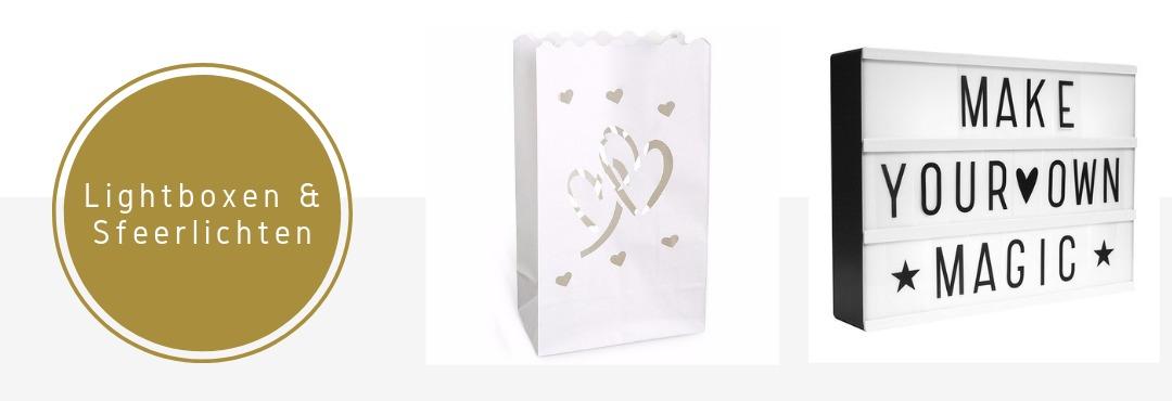 Lightboxen Sfeerverlichting Candlebags Feestartikelen Verjaardag Bruiloft Online Kopen