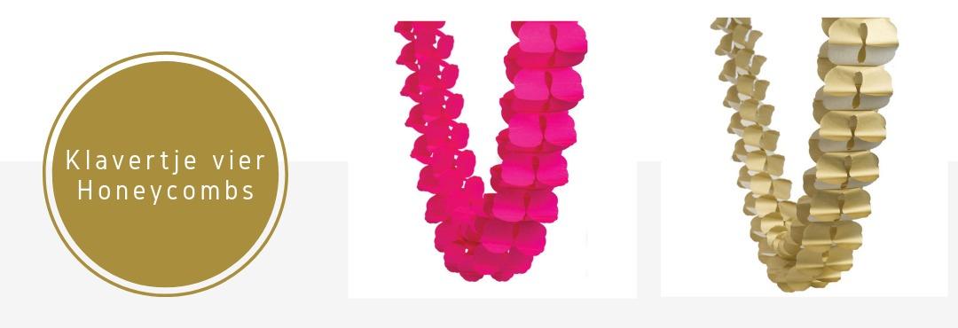 Klavertje Vier Honeycombs Slingers Decoraties Versieringen Feestartikelen Verjaardag Bruiloft Kopen