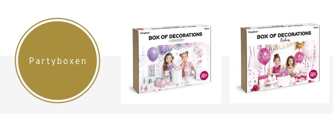 Partybox Feestpakketten Slingers Versieringen Decoraties Feestartikelen Kopen Verjaardag Bruiloft