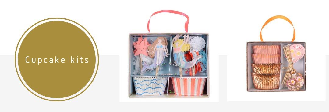 Cupcake kits wrappers en prikkers feestversieringen Verjaardag Babyshower Bruiloft kopen