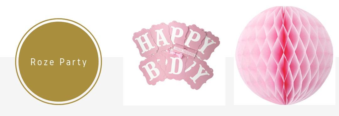 Roze Kleur Feestartikelen Versieringen Decoraties Online Kopen Verjaardag Bruiloft Babyshower
